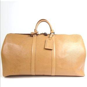 Auth Louis Vuitton Epi Keepall 60 Travel Bag